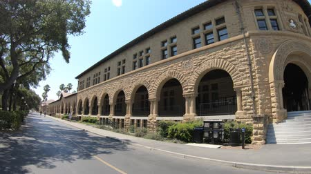 silicon : Palo Alto, California, United States - August 13, 2018: Pigott Hall at campus of Stanford University, one of the most prestigious universities in the world, in Silicon Valley, San Francisco Bay area.