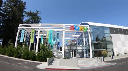 silicon : San Jose, California, USA - August 12, 2018: Ebay Californian HQ. Ebay is a corporation providing online marketplace services and virtual stores online.