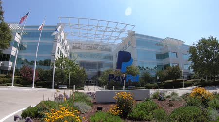 san jose ca : San Jose, California, United States - August 12, 2018: facade of Paypal HQ in Silicon Valley. Paypal is an american corporation providing a virtual bank and online payments services.