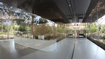apple headquarter : Cupertino, CA, United States - August 12, 2018: Apple new offices reception in Tantau Avenue of Cupertino in Silicon Valley, California.