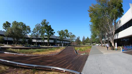 silicon : Mountain View, California, United States - August 13, 2018: new Linkedin Corp campus in Silicon Valley. Linkedin Headquarters is a business and employment oriented professional social network service.