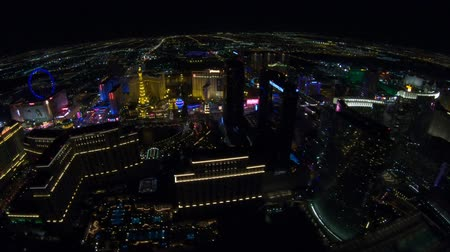 bellagio hotel : Las Vegas, Nevada, United States - August 18, 2018: aerial view of Las Vegas Strip Skyline illuminated by night. Scenic flight above: High Roller, Cosmopolitan, The Paris, bellagio Casino and Hotel.