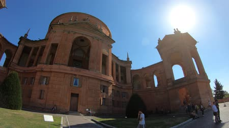 oszlopsor : Bologna, Italy - September 29, 2018: San Luca Holy Mary Sanctuary of Bologna full panoramic view.