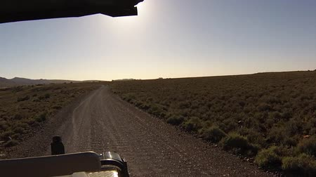 otopark : First person view of a game drive on dirt off roads in the Karoo National Park, Western Cape province of South Africa.