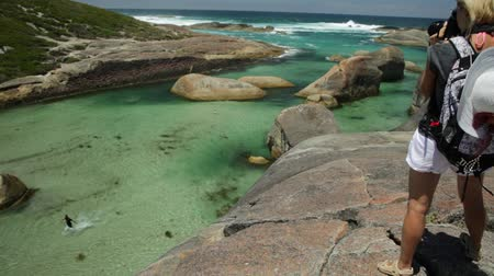 william : Travel photographer takes shot of Elephant Rocks in William Bay National Park, Western Australia. Professional photography with amazing South Coast Denmark. Great Southern Ocean coastline.