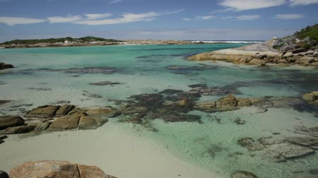 waters : William Bay NP, Denmark and Albany Region, Western Australia. Sheltered waters of Madfish Bay surrounded by rock formations. Popular travel summer destination in Australia. Stock Footage