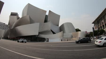 бункер : Los Angeles, California, United States - August 9, 2018: Walt Disney Concert Hall, by Frank Gehry, Grand Avenue on Bunker Hill, Downtown of LA, home to Los Angeles Philharmonic Orchestra and Choir.
