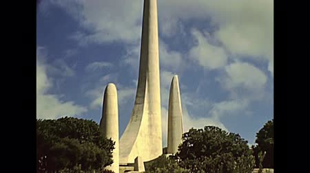 archívum : CAPE TOWN, South Africa - CIRCA 1980: historical building Afrikaans Language Monument in Cape Town city of South Africa in 1980s. DIT IS ON ERNS welcome sign