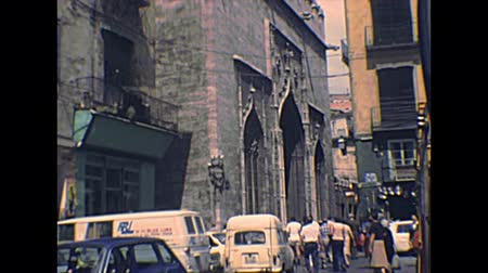 super car : VALENCIA, SPAIN - CIRCA 1970: Silk Exchange, Lonja de la Seda. The late Valencian Gothic-style old building. Archival of Valencia city of Spain in 1970s.