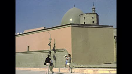 muhammad ali : CAIRO, EGYPT, AFRICA - circa 1982: Walls with Egyptian flag of the Mosque of Muhammad Ali. Historical archival of Cairo capital city of Egypt in 1980s.