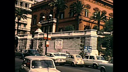 embassy : ROME, ITALY - CIRCA 1970: the historical palace of the actual embassy of the United States of America in Vittorio Veneto street. Archival of Rome capital of Italy in the 1970s.