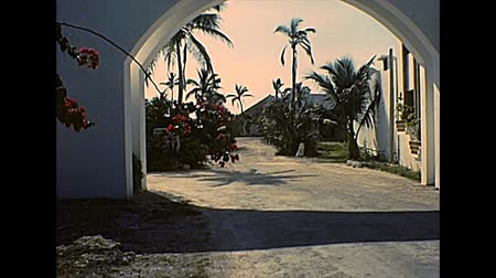 семидесятые годы : AKUMAL, Yucatan Peninsula, MEXICO - circa 1970: Akumal beach of tourist resort, located south of Cancun, between Playa del Carmen and Tulum. Archival of Mexico in South America in 1970s.