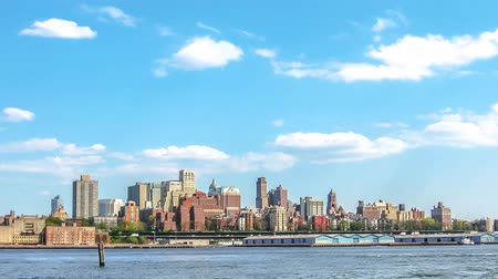 times : Manhattan skyline cinemagraph background. New York City, United States.