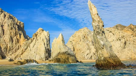 cabo san lucas : Cinemagraph loop background of Los Arcos rock formation at Lands End in Cabo San Lucas, Baja California Sur, Mexico.
