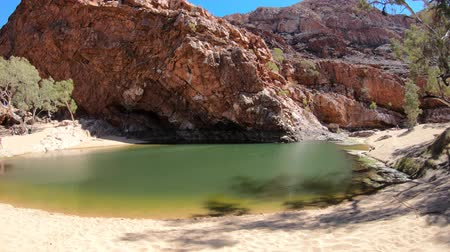 west macdonnell national park : Ormiston Gorge and Pound Walk in West MacDonnell Ranges National Park, Northern Territory, Australia, Outback Red Center. Ormiston Gorge is a permanent waterhole to swim or see the high walls of gorge