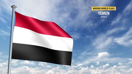 yemen : 3D flag animation of Yemen