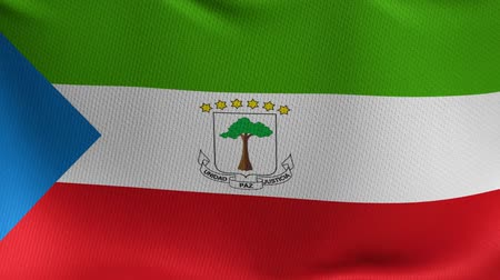 gine : 3D flag animation of Equatorial Guinea