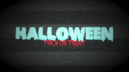 vampier : Halloween Haunted TV - Scary Halloween Trick or Treat Text. Resolution 4K Ultra HD UHD