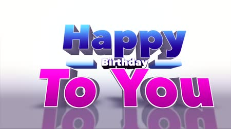 anniversair : Joyeux anniversaire coloré 3D Motion Background - HD Video