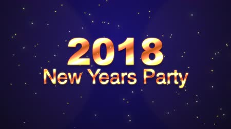 číslo : 2018 New Years Party 3D Gold Text With Confetti - Text Animation Background Loop 4K Animation