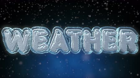 rukopisný : Weather 3D Word - Text Looping Animation - Frozen Ice Text Effect With Falling Snow - 4K Resolution Ultra HD Dostupné videozáznamy