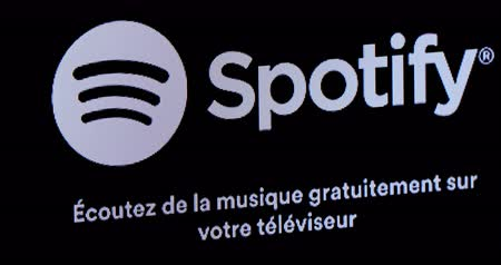 tv channel : Paris, France - November 16, 2018: Smart TV Apps On Screen With Amazon Fire TV, Various Apps: YouTube, Amazon Music, Vevo, Spotify, Facebook? Close Up View DCi 4K Resolution