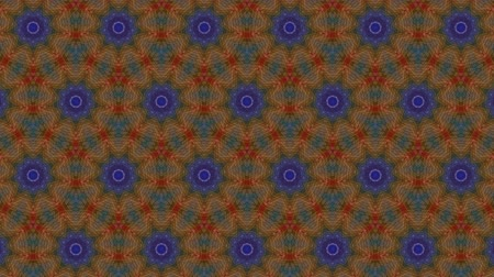bez szwu : Virtual kaleidoscope sequence patterns, infinity or seamless loop. Abstract animation, good for party, motion graphics, meditation, clubs, shows or concert videos. Wideo