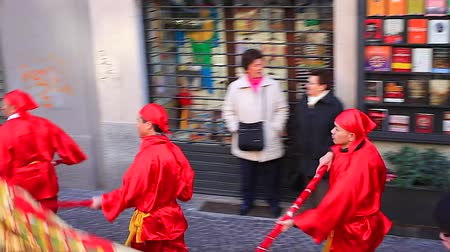 renowned : MILAN, ITALY - FEBRUARY 10: View of Chinese New Year parade in Milan on February 10, 2013 Stock Footage