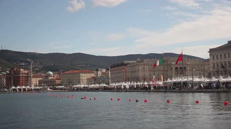 View of Trieste during the 49 Barcolana regatta