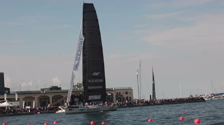 mastro : Pendragon Alilaguna boat winner the third place of the 49 Barcolana regatta i
