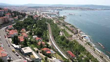 Top View of Trieste and the Adriatic Sea