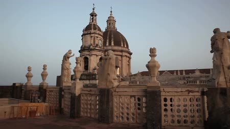 barroque : Top view of the Catania cathedal dedicated to Saint Agatha