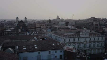 Top View of Catania at sunset
