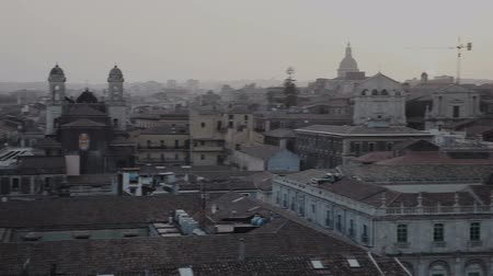 Сицилия : Top View of Catania at sunset