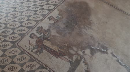 sicilian : PIAZZA ARMERINA, ITALY - APRIL, 24: Mosaics of the Roman Villa at the Casale, large and elaborate Roman villa designated as a UNESCO World Heritage Site, famous for the extraordinary collection of frescoes and mosaics on April 24