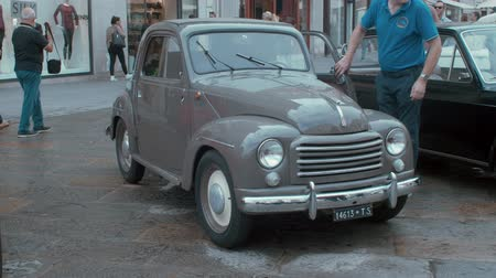 restaurar : TRIESTE, ITALY - OCTOBER, 01: Fiat Topolino exposed at the? National Day of the Vintage Vehicle ASI and in conjunction with the 30th anniversary of the Friends Club of Topolino foundation on October 01, 2019