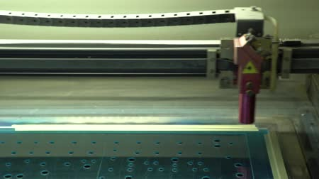 cnc machine : Material processing. Movement of a laser tube. Acrylic cutting. Preparation processing.