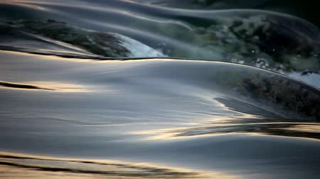 peaceful : flowing Water and wave time laps looping Stock Footage