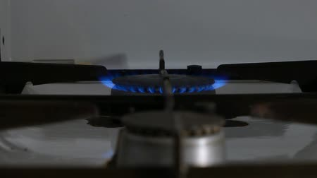 petrol : gas stove being turned on soft focus