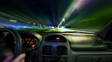 drive : Car driving Rush hour Traffic in city time lapse night