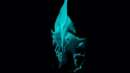 Liquid Splash Transition v3 Turquoise 1080p