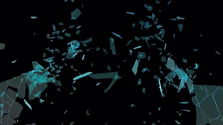 Glass Shatter Effect Stock Footage