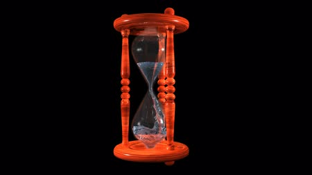 Hourglass with Water Stock Footage