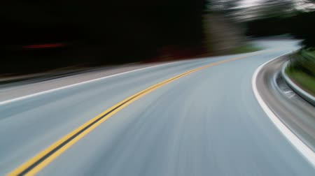 road : Speeding on a winding country road Stock Footage