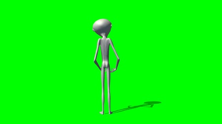 alienígena : Alien talking - seperated on green screen