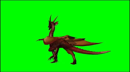 dech : dragon walks - seperated on  green screen