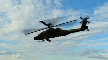 donanma : Military Helicopter Boeing AH-64 Apache fly over