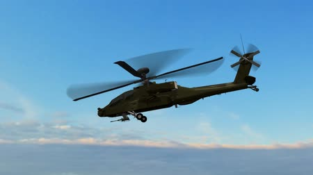 copter : Military Helicopter Boeing AH-64 Apache fly over