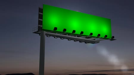 billboards : billboard with moving clouds - green screen