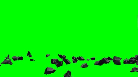 imha : Stones debris explode - seperated on green screen